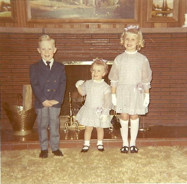 Kreston, Jennifer, and me, Easter 1971