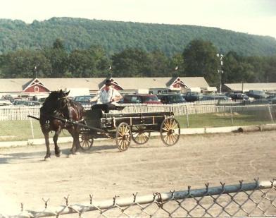 Larry Johnson August 1987 driving Bonnie