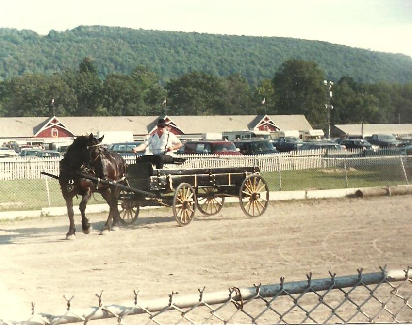 Larry Johnson August 1987 driving Bonnie