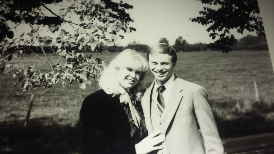 September 1984 engagement picture for newspaper